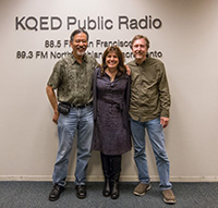 Rachael Myrow with Curt Fukuda and Ralph Pearce